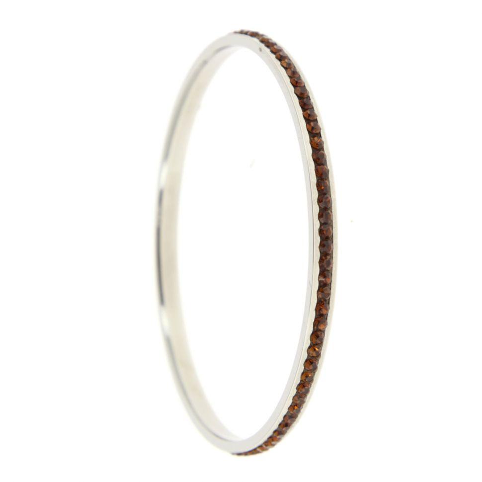 Bracelet acier inoxydable cristal