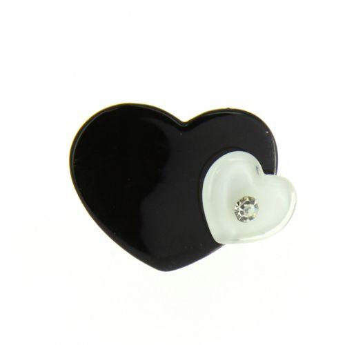Hearts acrilic ring