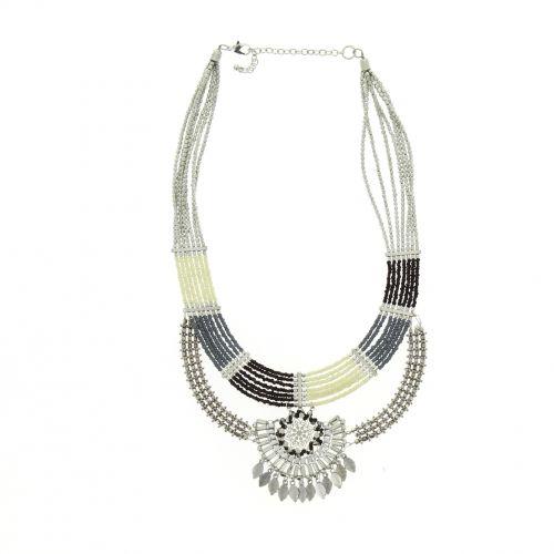 Collier perles bronze ASMINA