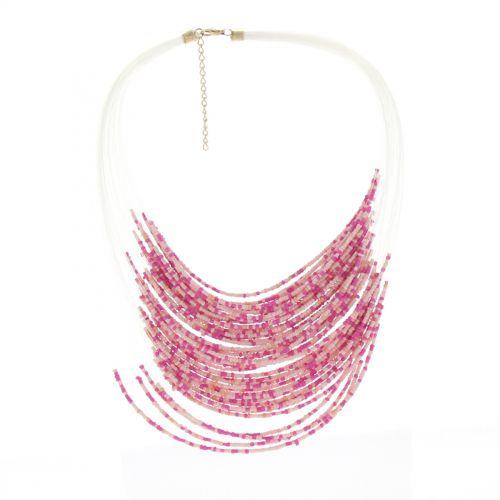 Collier perles ENORA Rose - 10068-34613