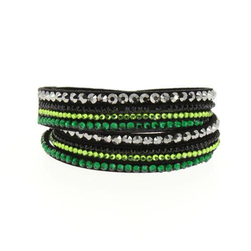 Bracelet Wrap Flora 7898 Noir (Vert) - 9598-34686