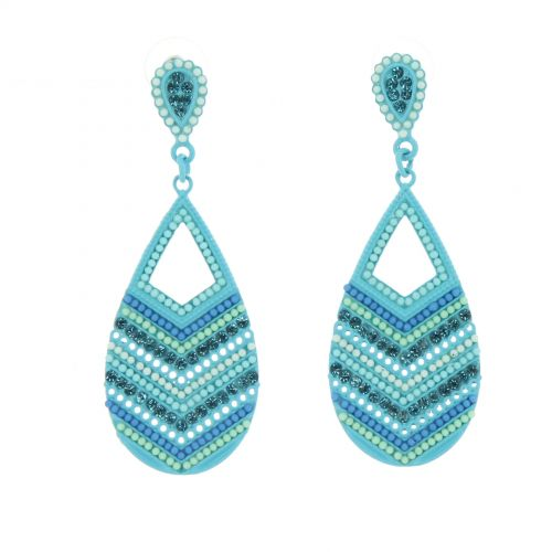 Boucles d'oreilles PASSIONNISE Bleu - 10093-34860