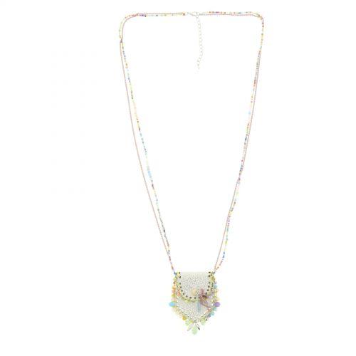 Sautoir sac et perles LAURE-SOPHIE Multicouleur - 10101-34925