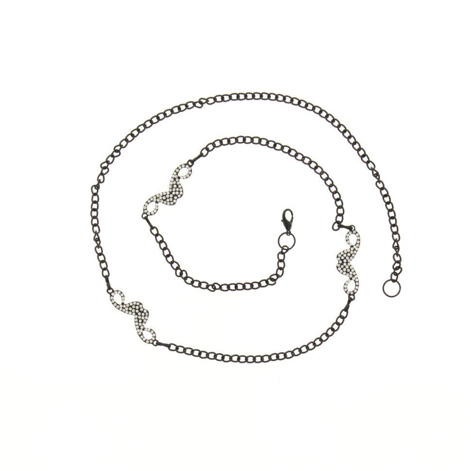 Ceinture chaines moustache Noir - 3805-36084
