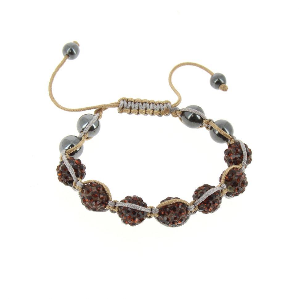 Shamballa bracelet 7 pearls, ADALINE