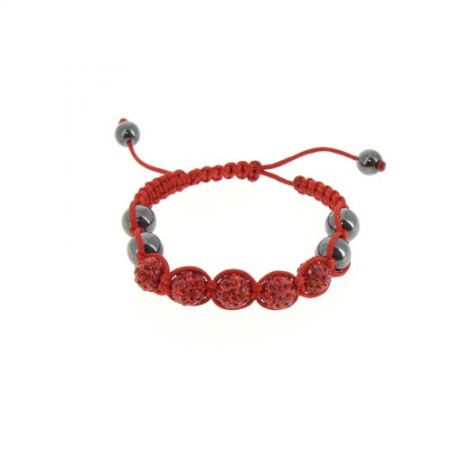 Bracelet Shamballa 5, AOH-32 Rouge - 3192-36165