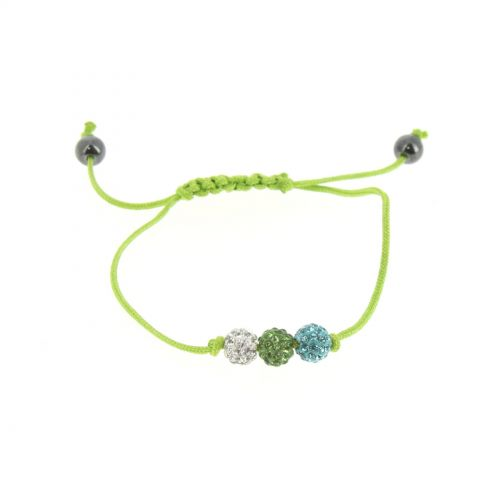 Bracelet cordon 3 strass, SANA