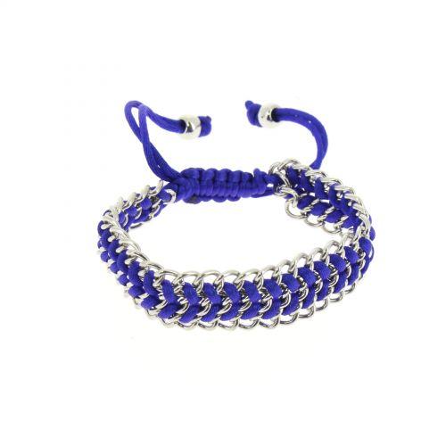 Bracelet femme styl, shamballa, tressé sur chaine