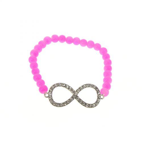 Bracelet à perles main de Fatima IVANNA Fuchsia - 3991-36224