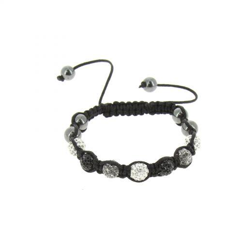 Bracelet shamballa à cristaux ultra fin et brillant, MELIS