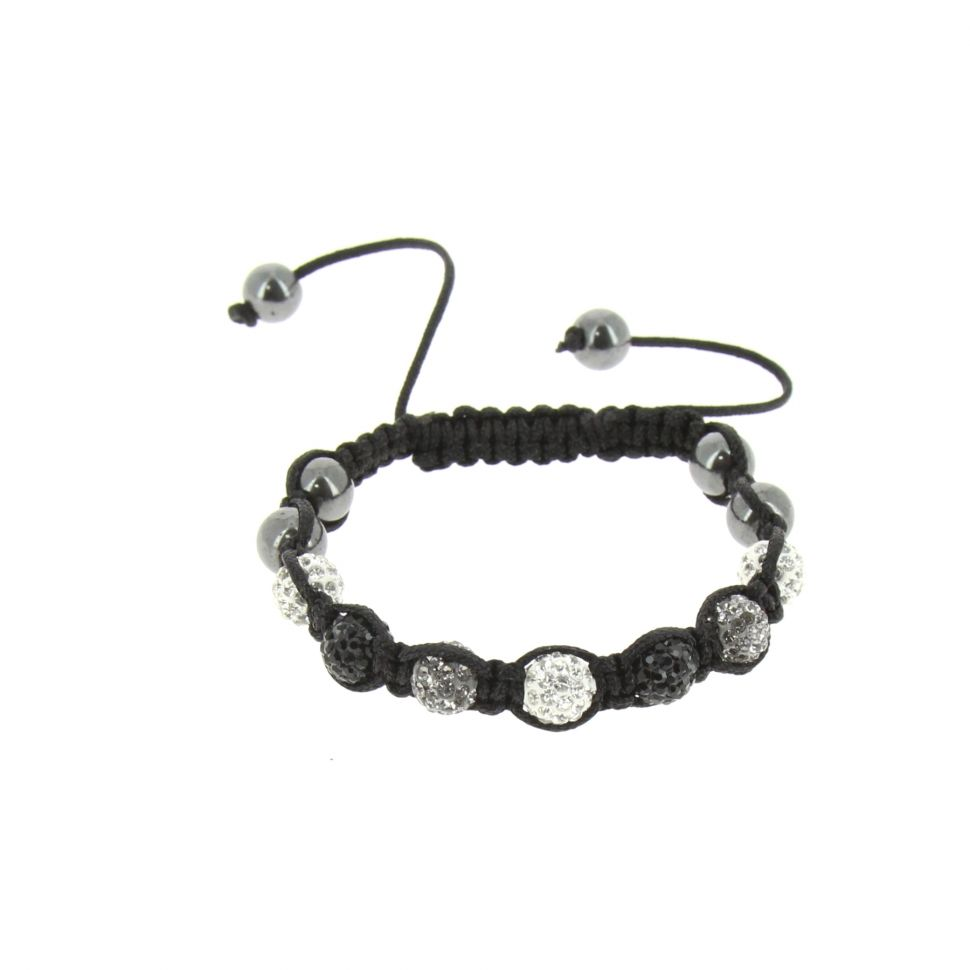 Shamballa bracelet with ultra-fine and brilliant crystals, MELIS