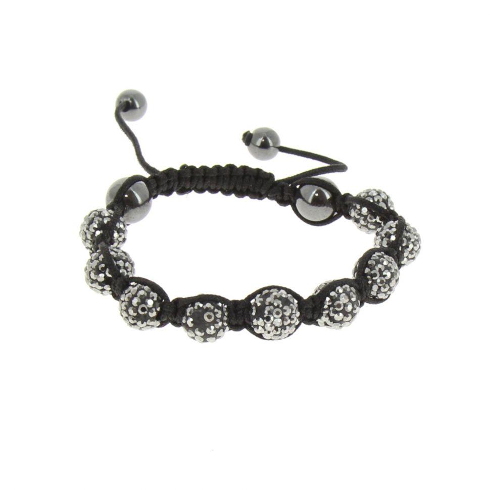 Bracelet Shamballa 9, AOH-39 Noir-gris - 1556-36272