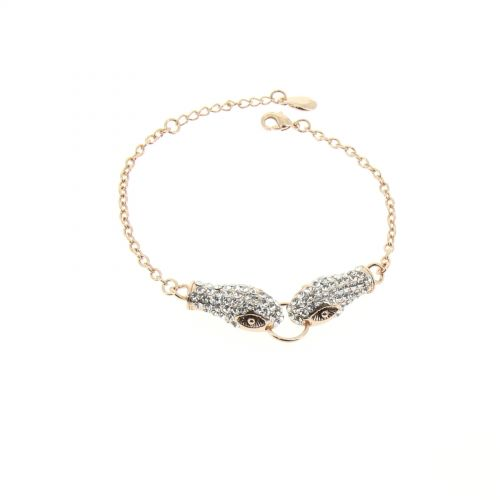 Bracelet serpent strass KATTIE Ocre - 7677-36292