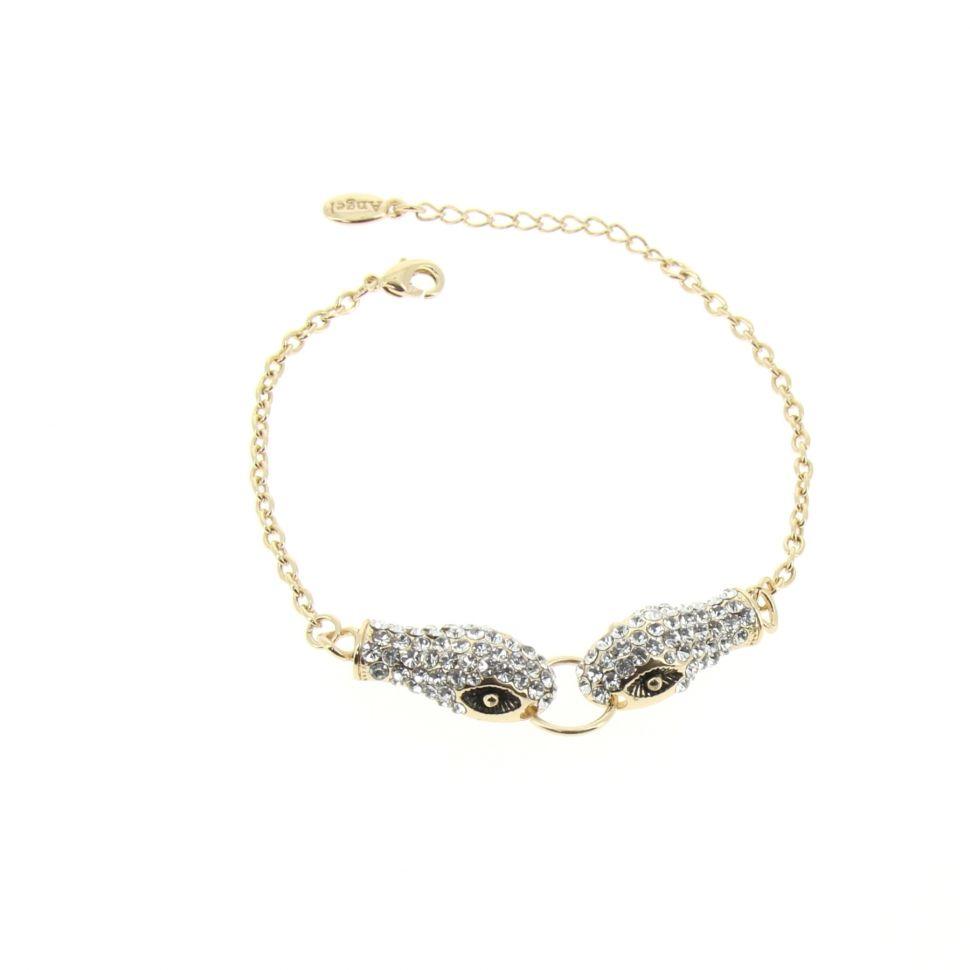 Bracelet serpent strass KATTIE Doré - 7677-36293