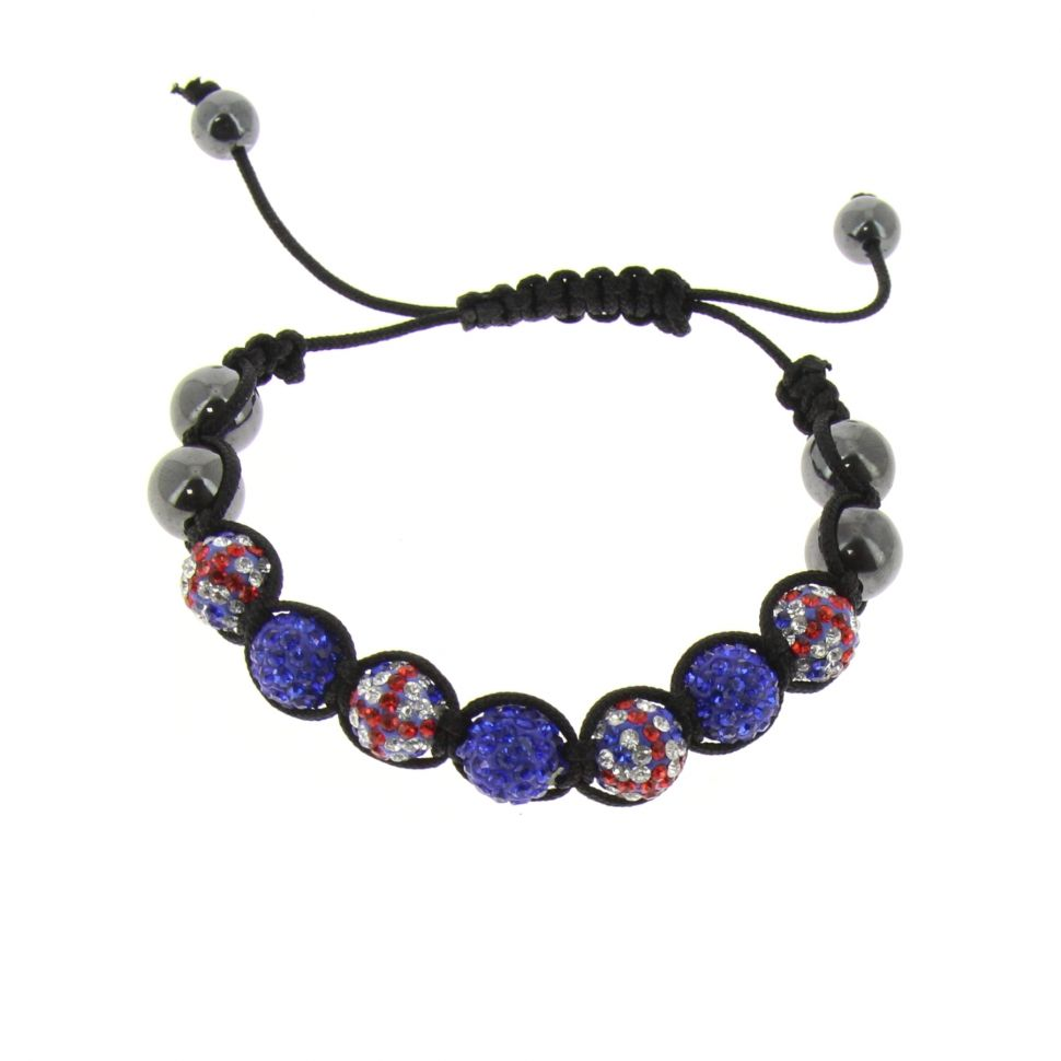 7-pearl shamballa bracelet, English flag, TOIREASA