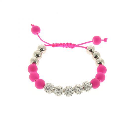 Shamballa bracelet 5 beads, LUA
