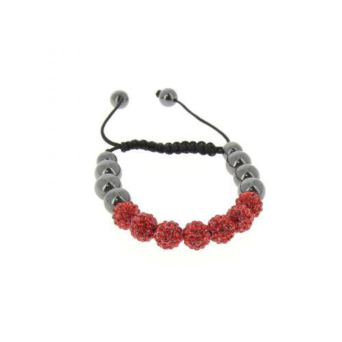 Bracelet shamballa AOH-34 bis Rouge - 2430-36311