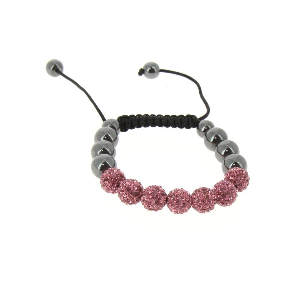 Bracelet shamballa AOH-34 bis Rose - 2430-36316