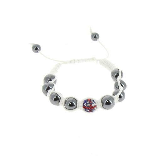 English flag shamballa bracelet, LEONI