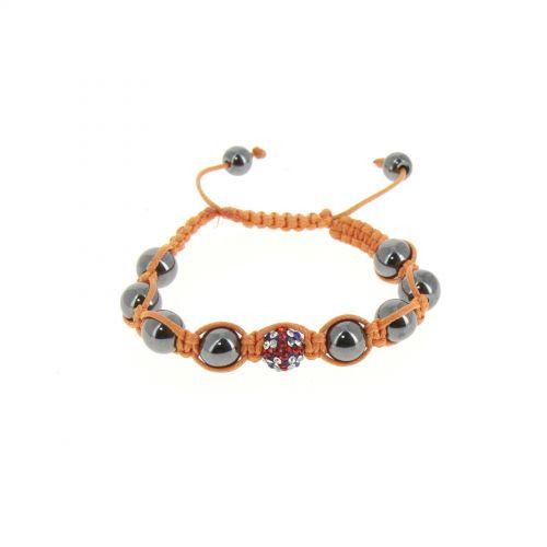 Bracelet shamballa Drapeau Anglais Orange - 2531-36339
