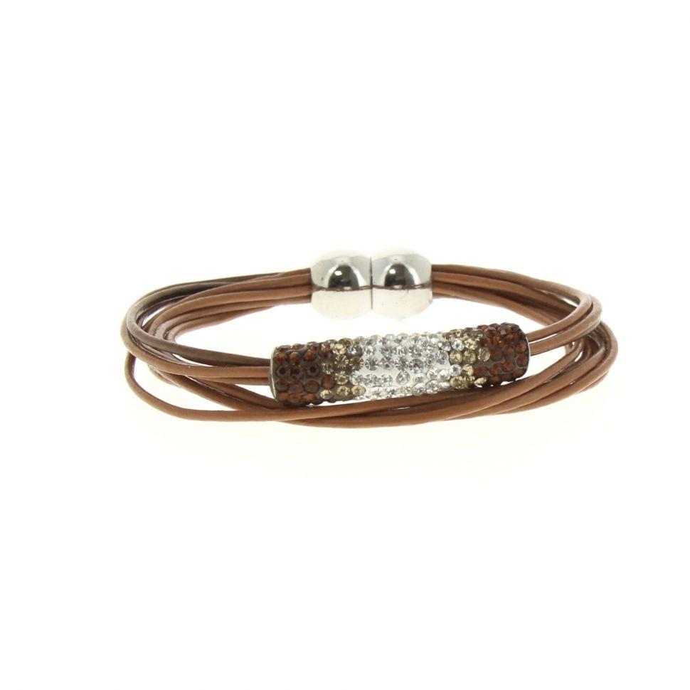 Bracelet aimanté, strass Camel - 2179-36380