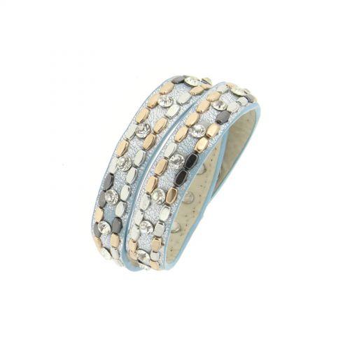 braccialetto dell'involucro strass borchiati Naika