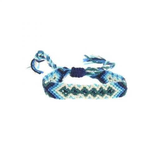 bracelet brésiliens coton, 8373 Bleu - 8378-36480