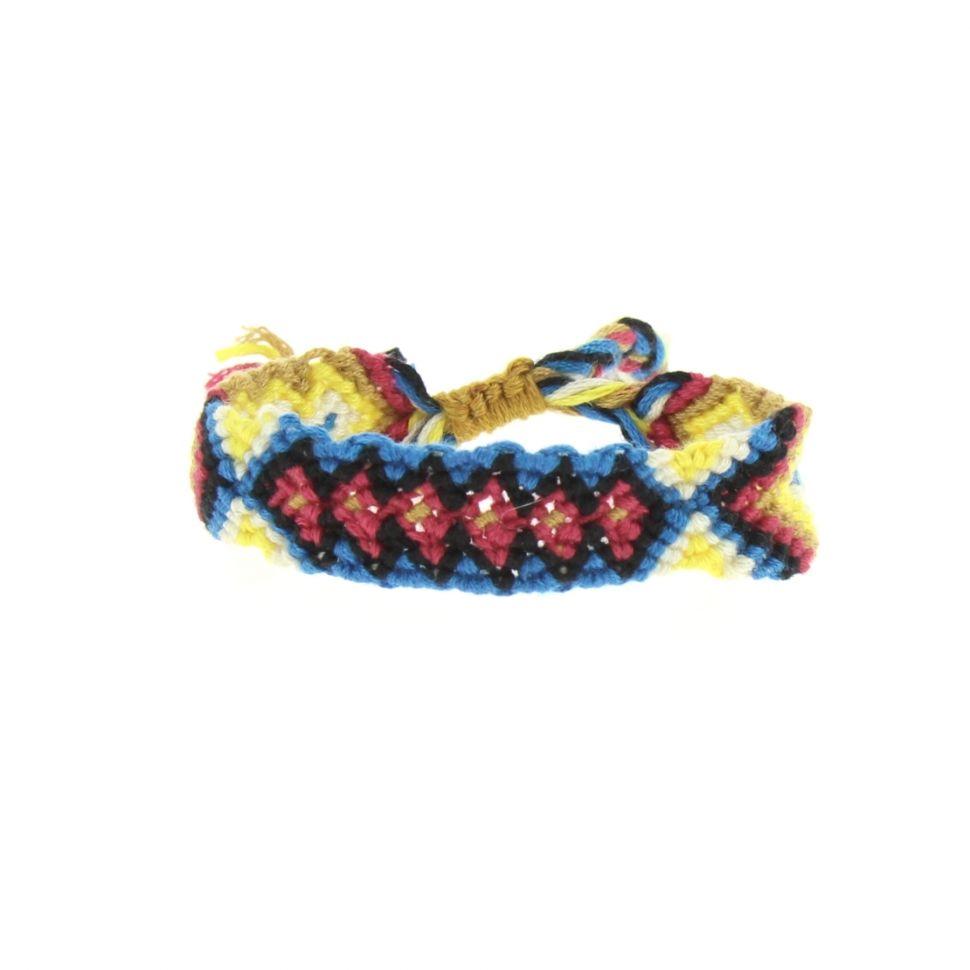 bracelet brésiliens coton, 8373 Bleu-Rouge - 8378-36481