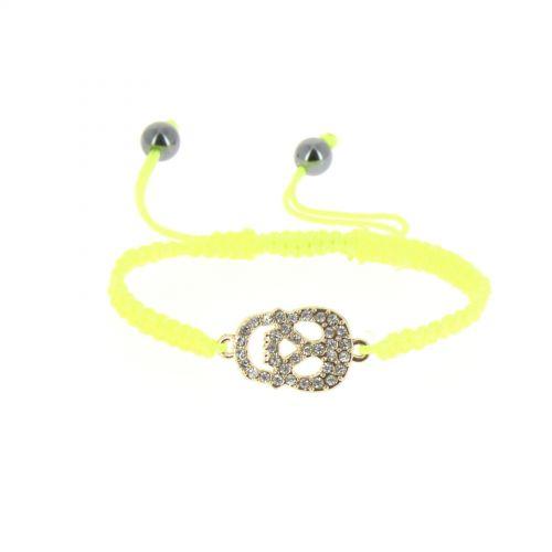 Bracelet shamballa tête de mort strass, DEVA