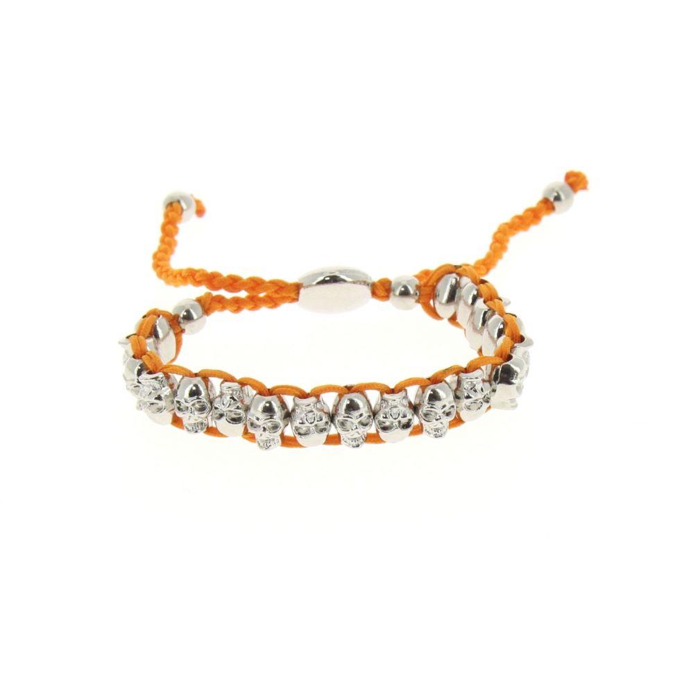 Bracelet BR04-1 tête de mort Orange - 1622-36524