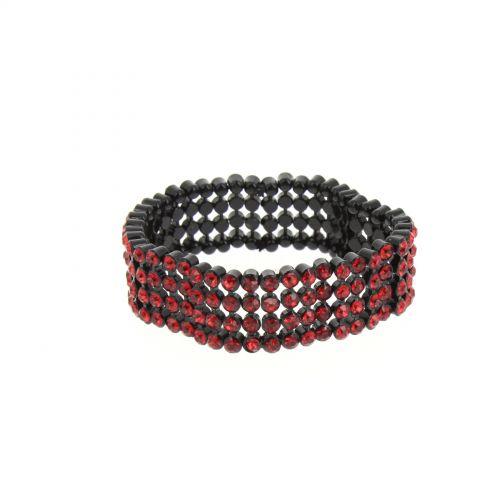 strass braccialetto B044-2 4 righe