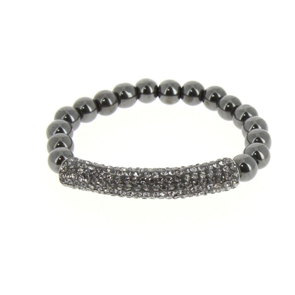 Bracelet shamballa mille strass AOH-91 Gris - 1919-36546
