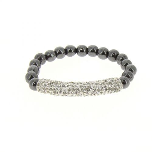 Bracelet shamballa mille strass AOH-91 Blanc - 1919-36552
