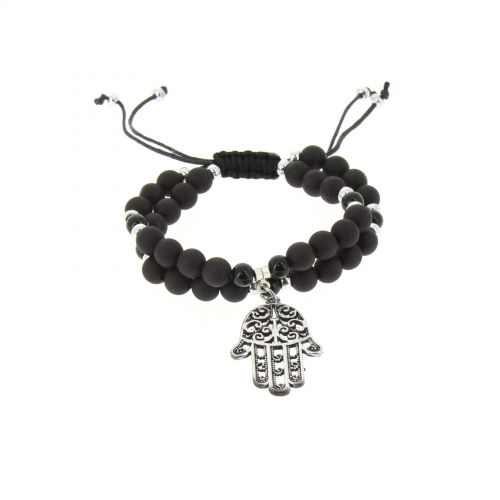 Shamballa bracelet hand of fatima beads, WENDY