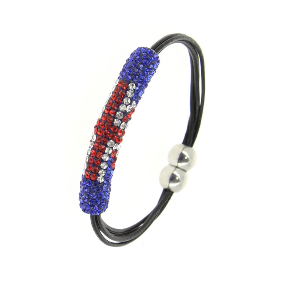 Magnetic bracelet shamballa English flag, LORENE