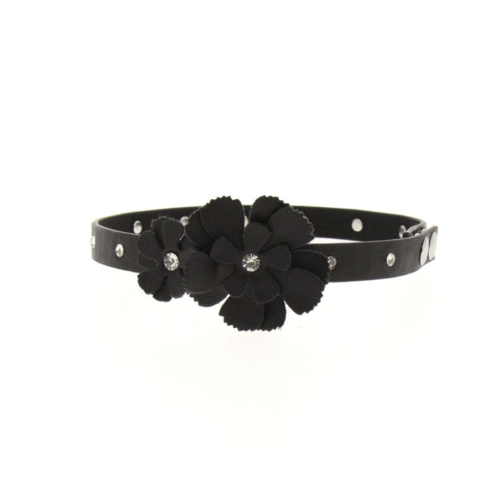 Paire de bijoux de bottes fleurs LUANA Noir - 5709-36640