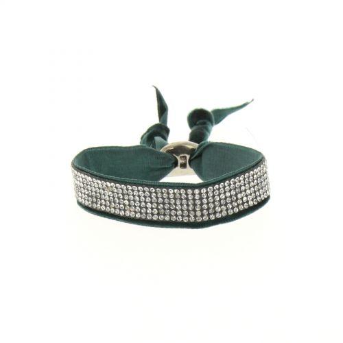 Bracelet strass et velour