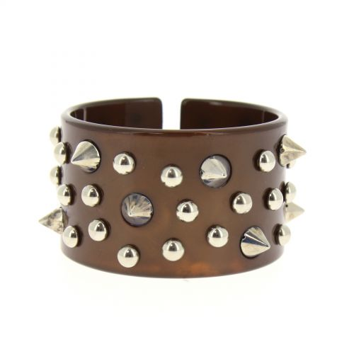 bracelet BOS-4, acrylique clouté de piques