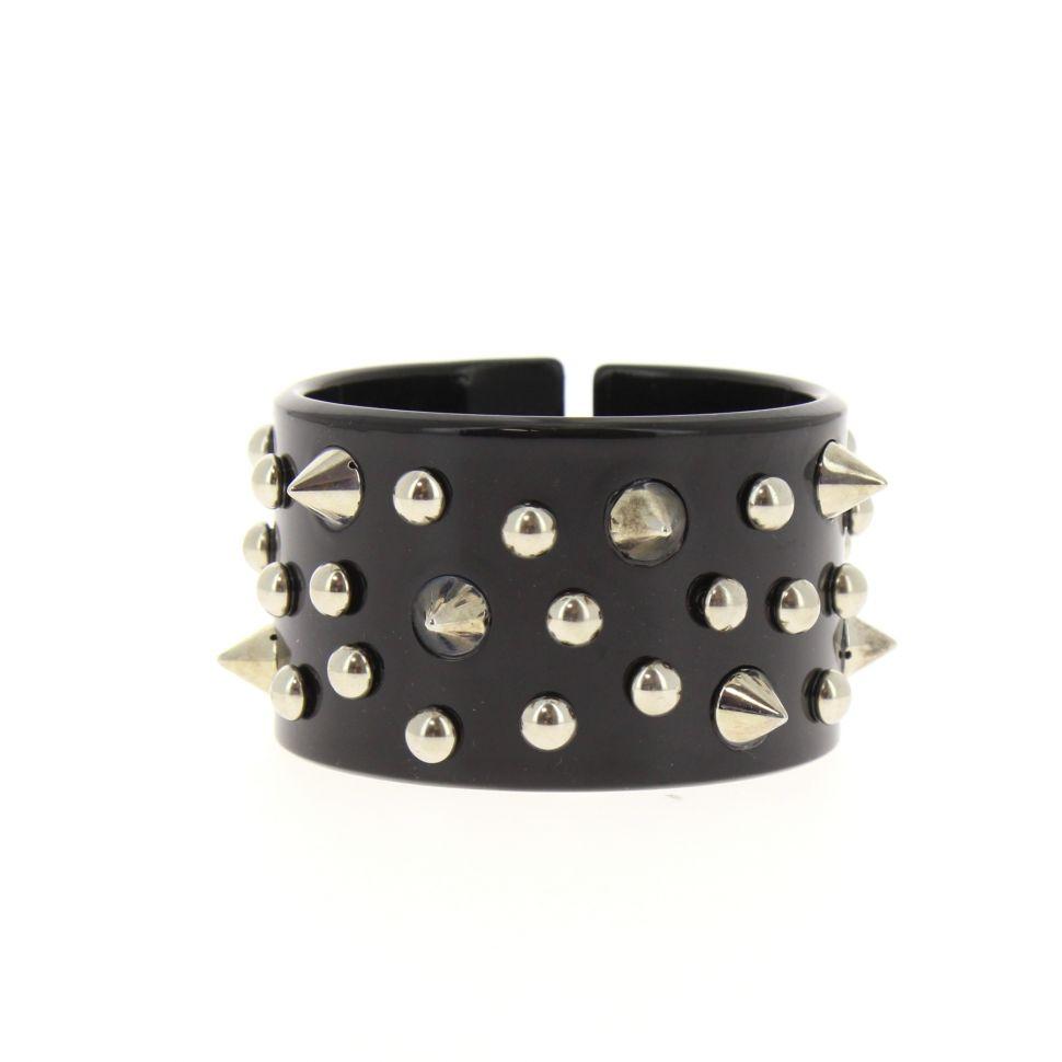 bracelet BOS-4, acrylique clouté de piques Noir - 1781-37058
