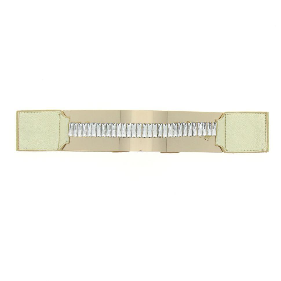 Ceinture élastique bandeaux à strass Doré - 5839-37271