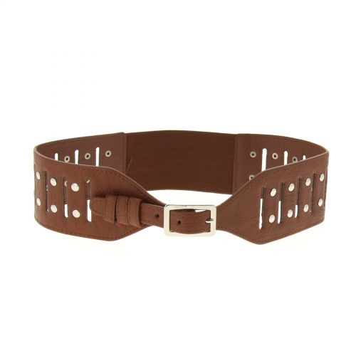 Ceinture large clous, JG-50 Marron - 8318-37288