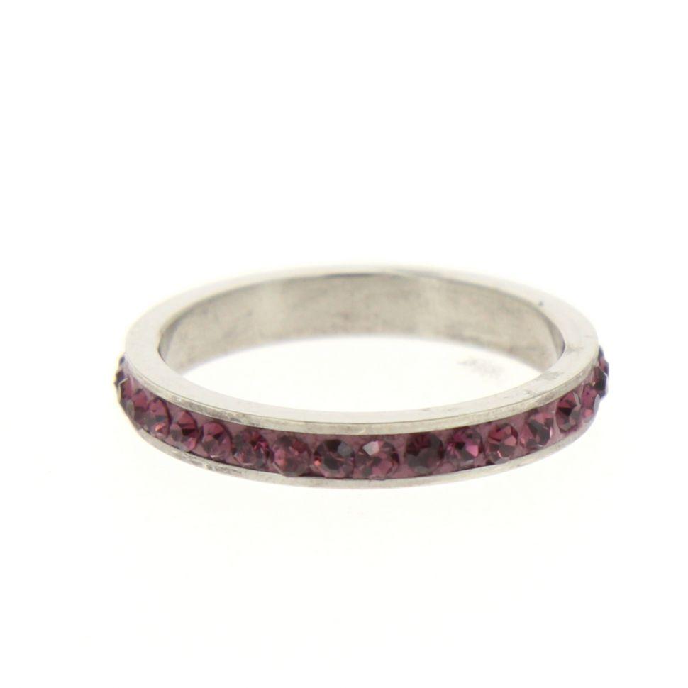 Stainless steel ring, 6311 Purple