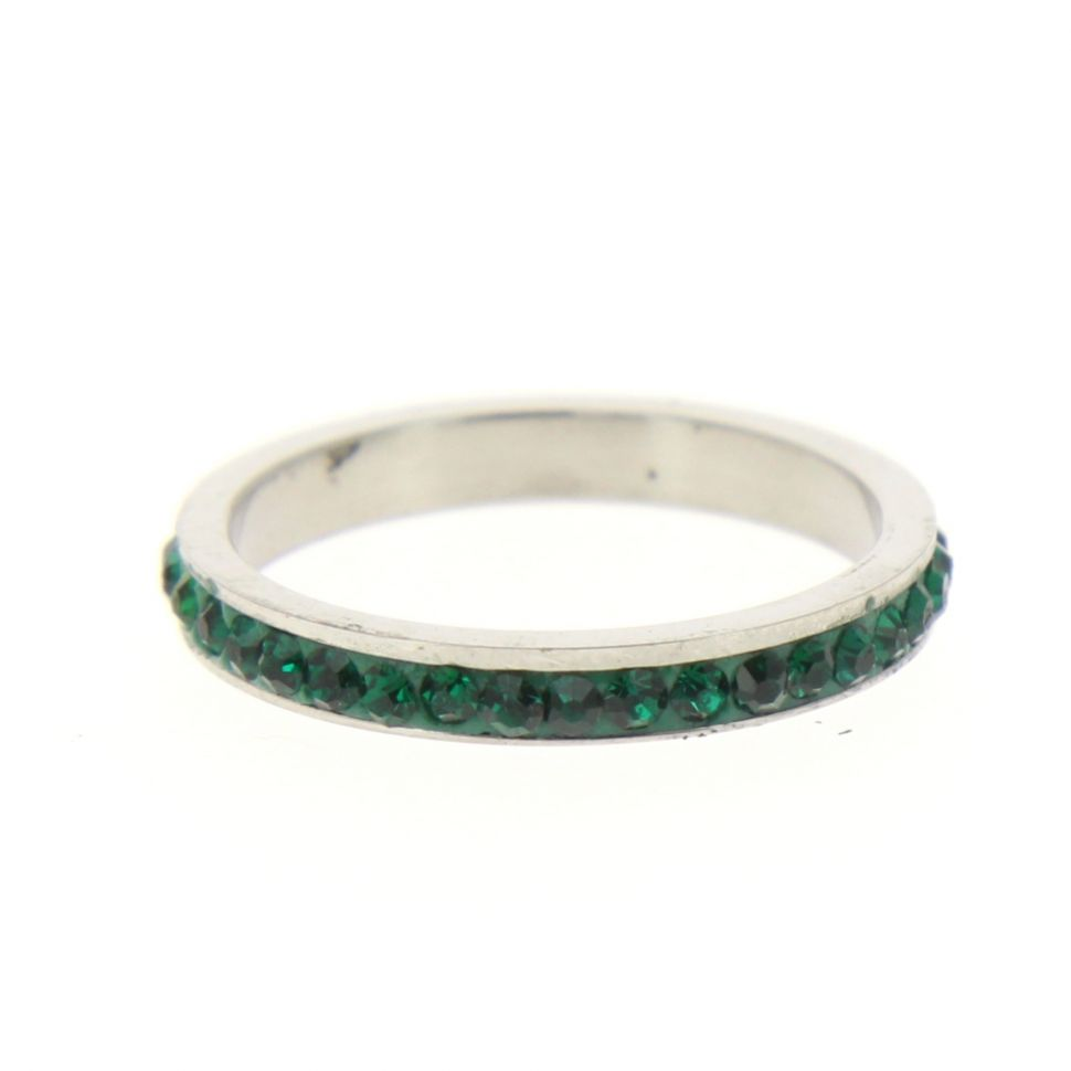 Stainless steel ring, 6311 Green