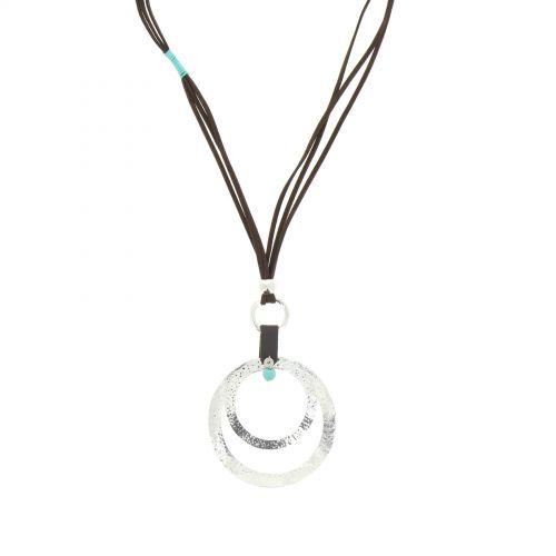 Sautoir cordes ZELIA Argenté (Marron) - 10233-37645