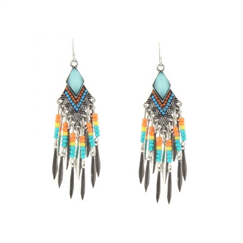 JANAKI feathers earrings