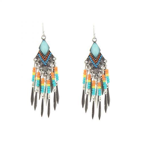 JANAKI feathers earrings