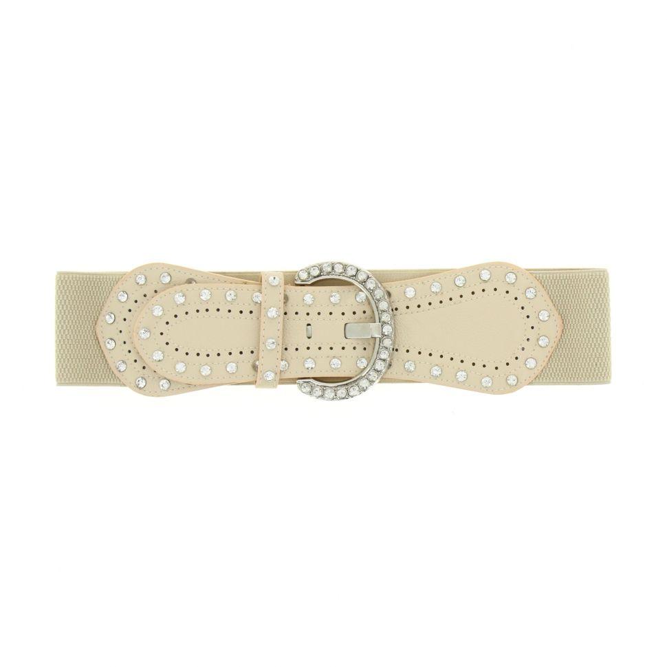 Strass elastic wide belt, BARISA
