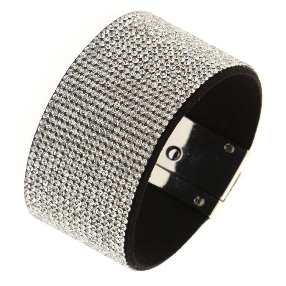 Crystal Strass Zirconia cuff bracelet CARA
