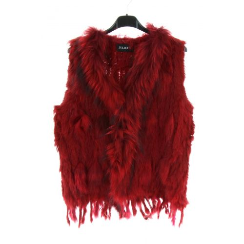 Gilet en fourrure IOLENTE Rouge - 10346-38559