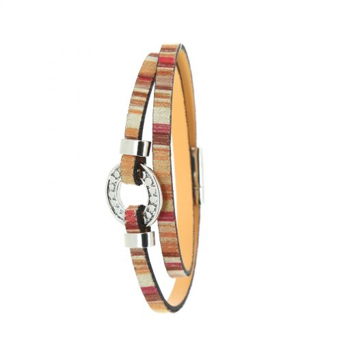Bracelet à enrouler similicuir Berta